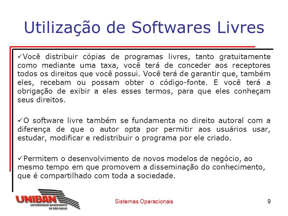 Utilização de Softwares Livres
