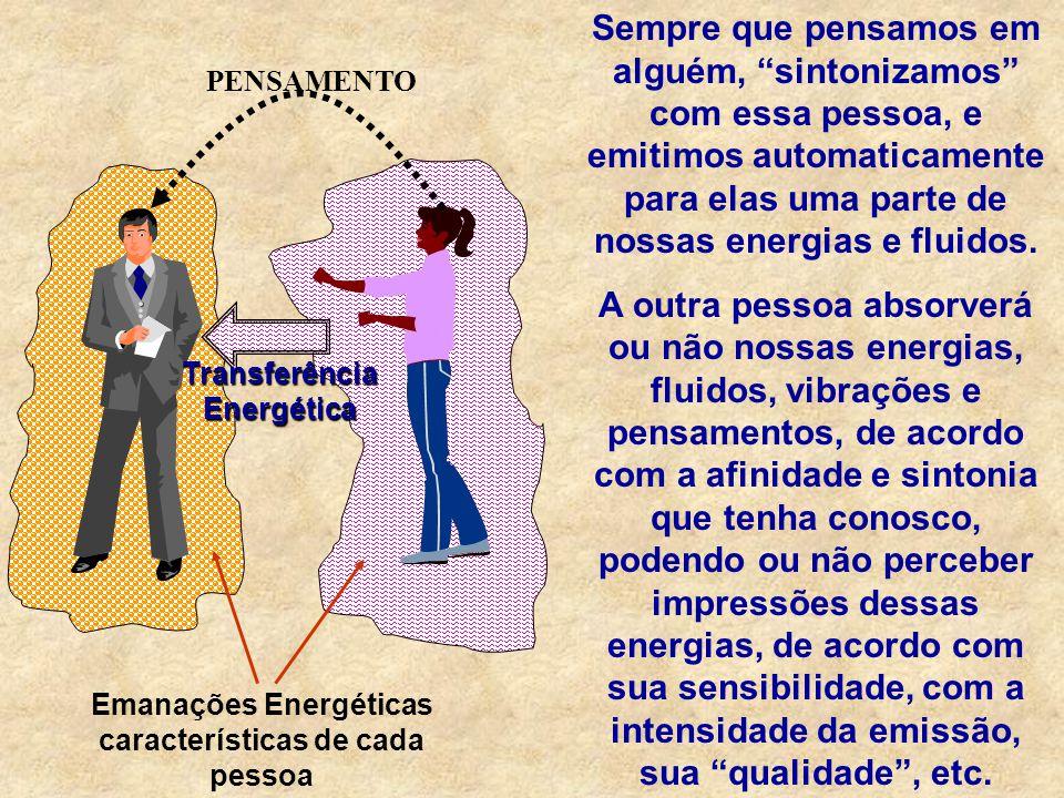 Emanações Energéticas características de cada pessoa