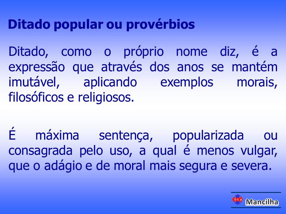 Ditado popular ou provérbios