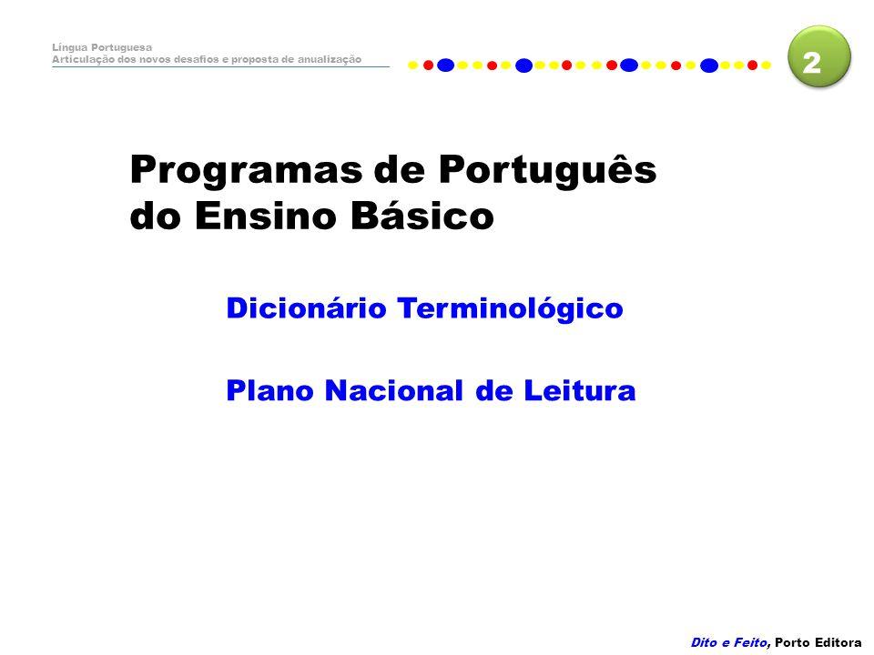 Programas de Português do Ensino Básico