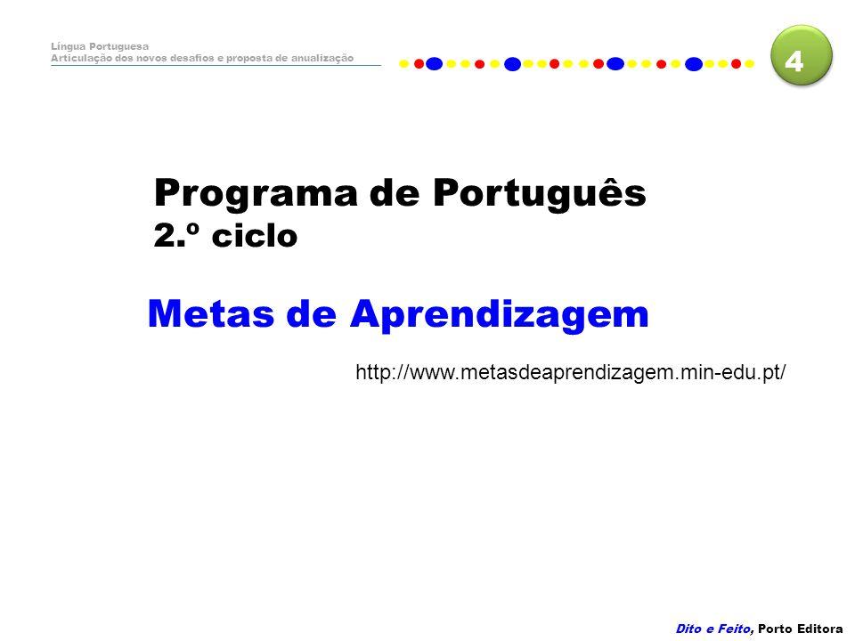 Programa de Português Metas de Aprendizagem 2.º ciclo 4
