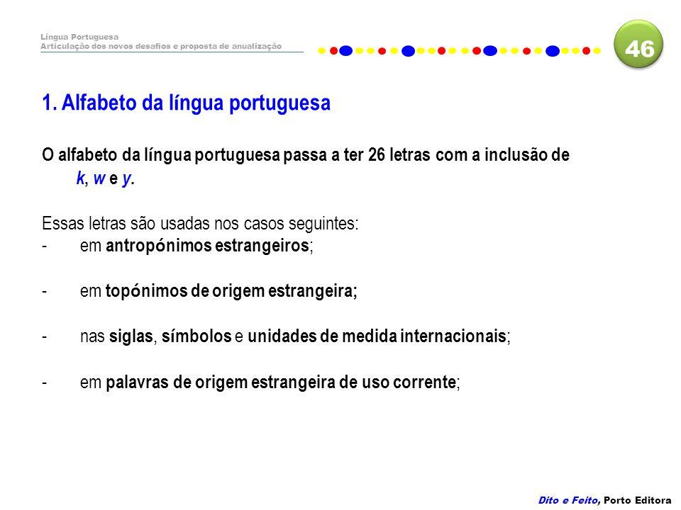 1. Alfabeto da língua portuguesa