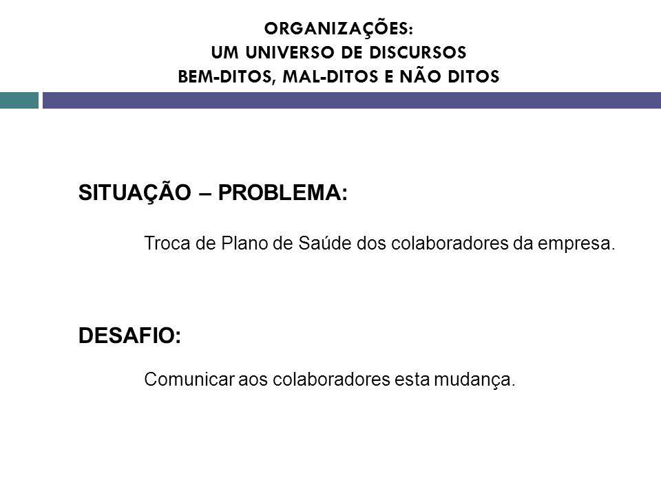 SITUAÇÃO – PROBLEMA: DESAFIO: