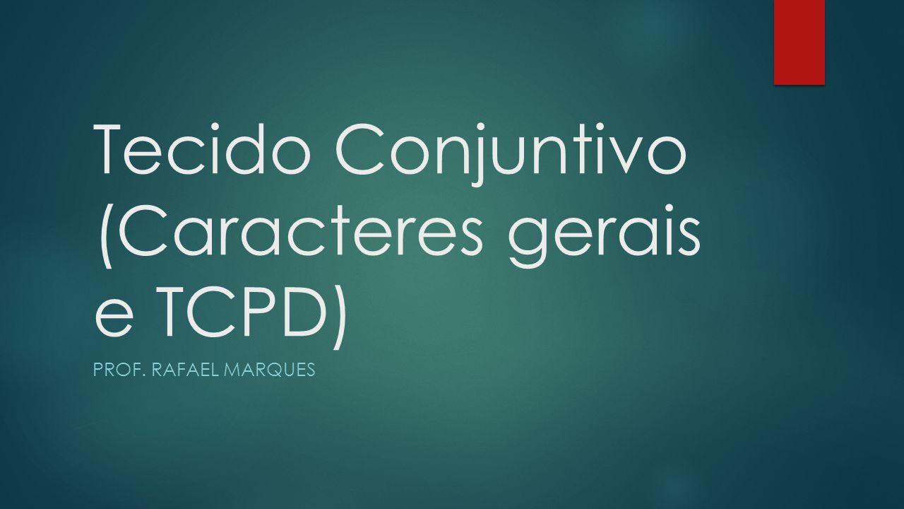 Tecido Conjuntivo (Caracteres gerais e TCPD)
