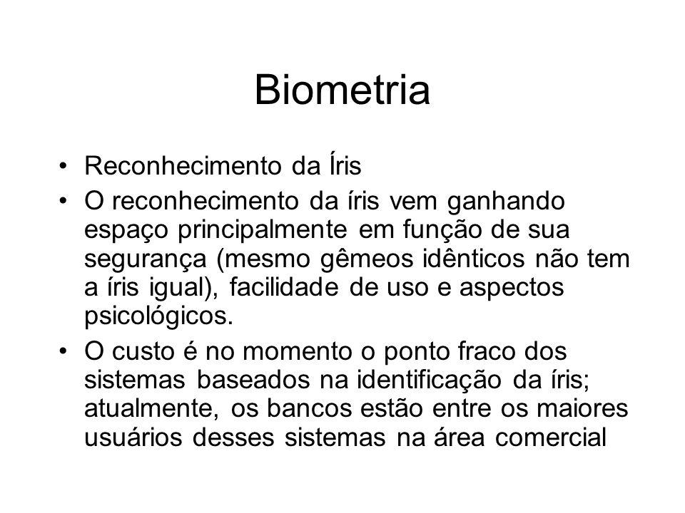 Biometria Reconhecimento da Íris