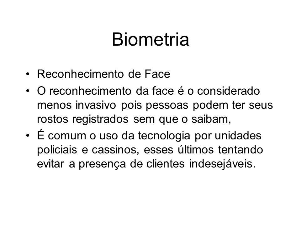 Biometria Reconhecimento de Face