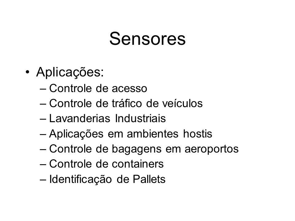 Sensores Aplicações: Controle de acesso