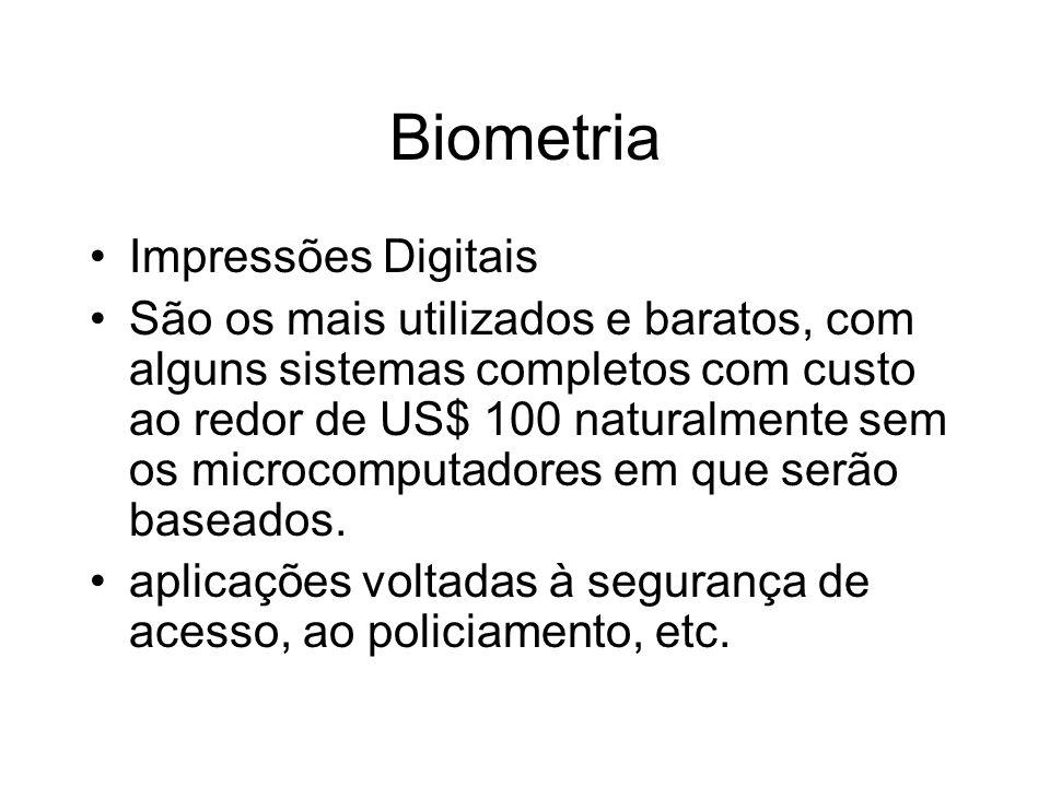 Biometria Impressões Digitais