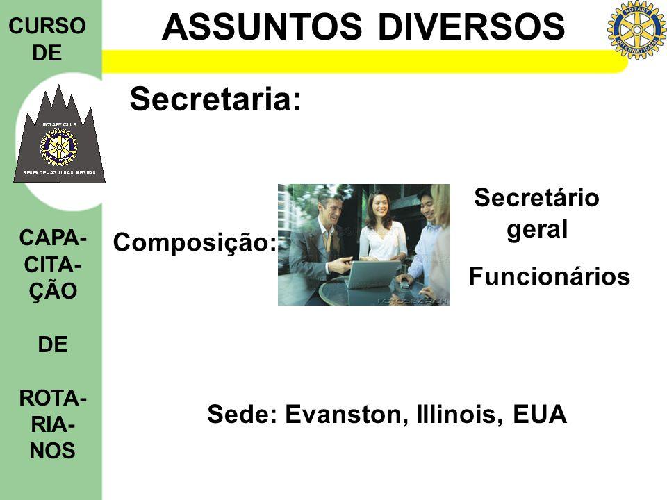 Secretaria: Secretário geral Composição: Funcionários