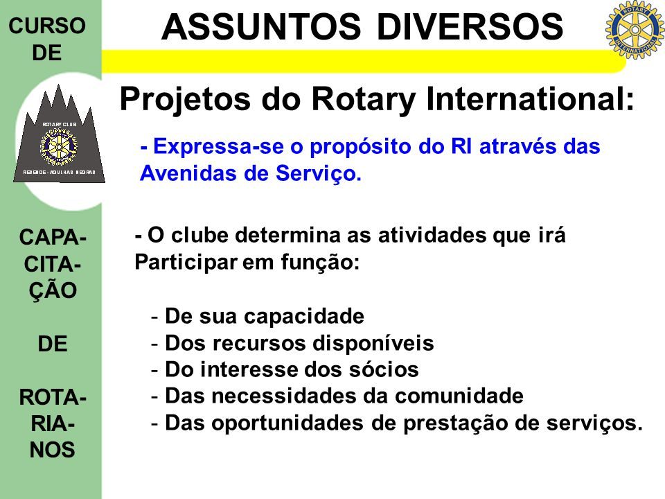 Projetos do Rotary International: