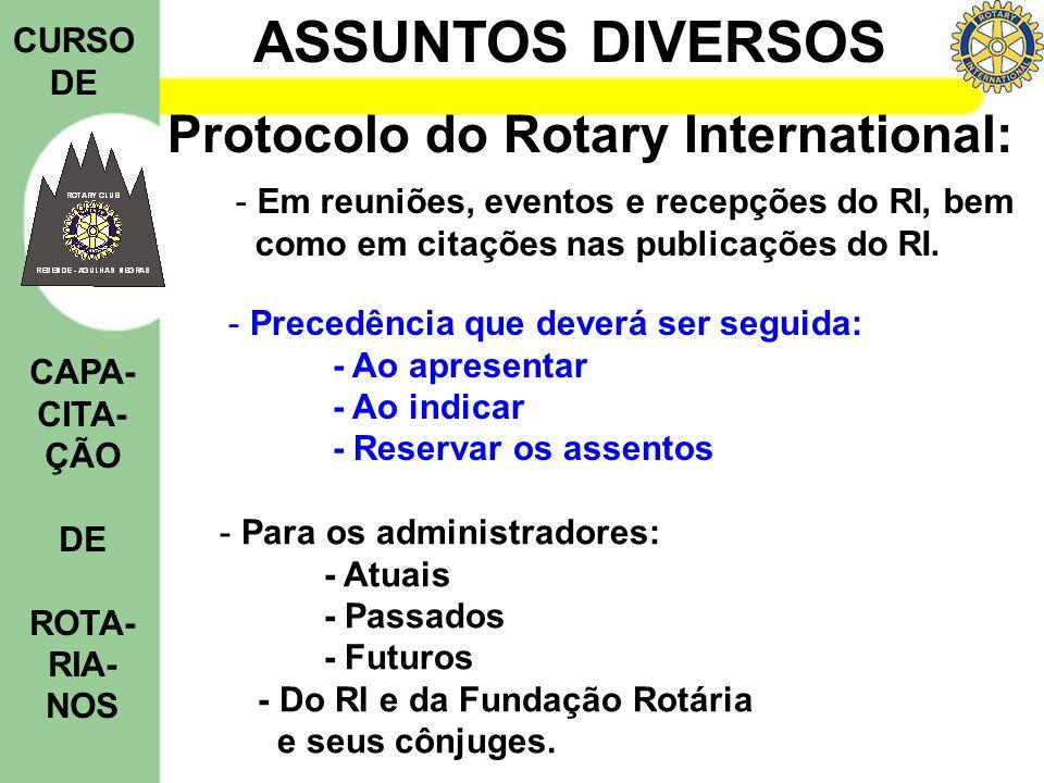 Protocolo do Rotary International: