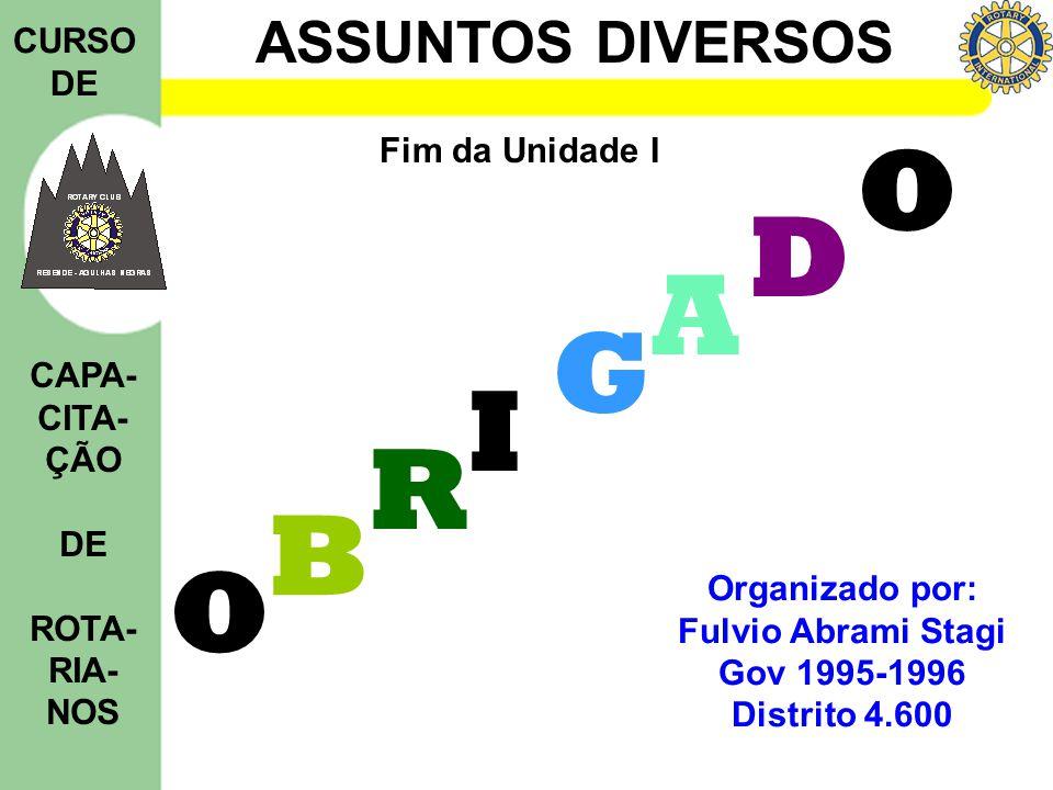 D A G I R B O Fim da Unidade I Organizado por: Fulvio Abrami Stagi