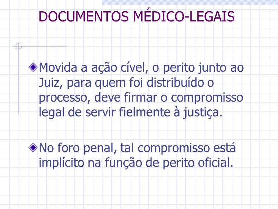 DOCUMENTOS MÉDICO-LEGAIS