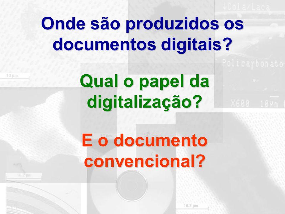 Onde são produzidos os documentos digitais
