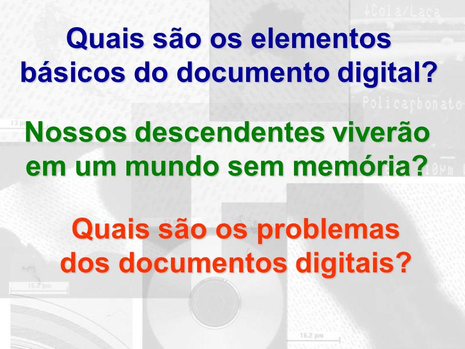 Quais são os elementos básicos do documento digital