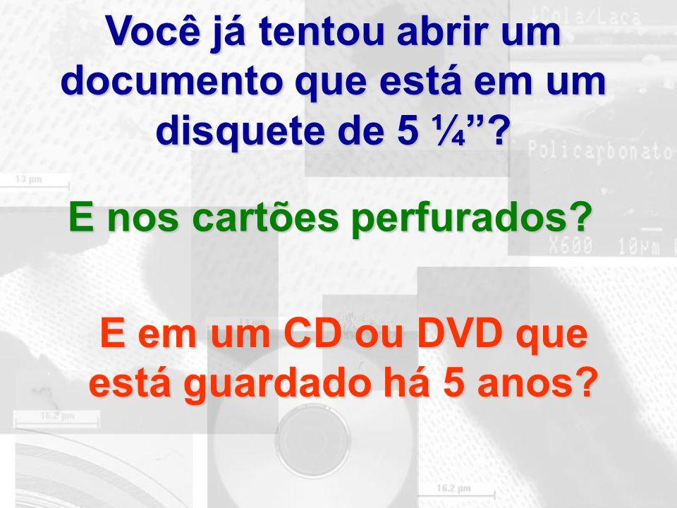 Você já tentou abrir um documento que está em um disquete de 5 ¼