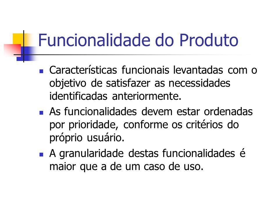 Funcionalidade do Produto