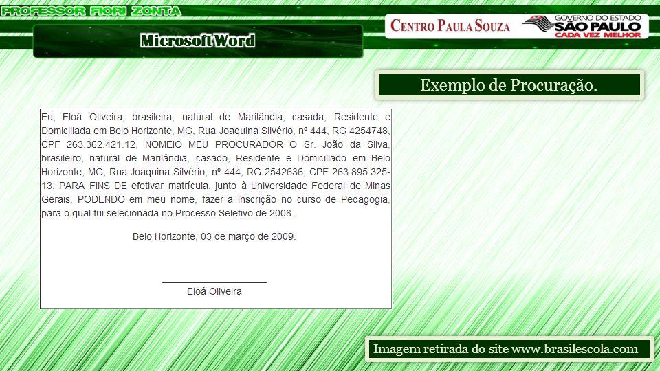 Exemplo de Procuração. Imagem retirada do site www.brasilescola.com