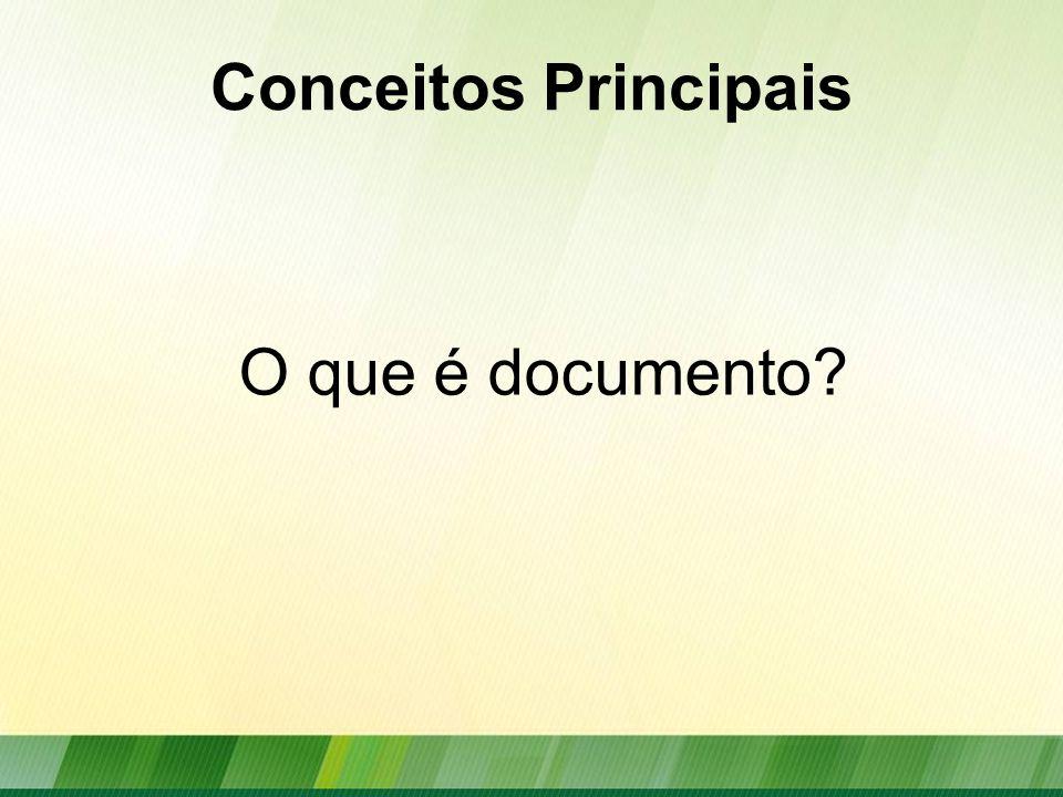 Conceitos Principais O que é documento