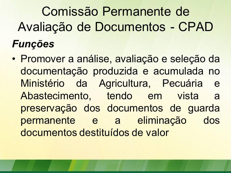 Comissão Permanente de Avaliação de Documentos - CPAD