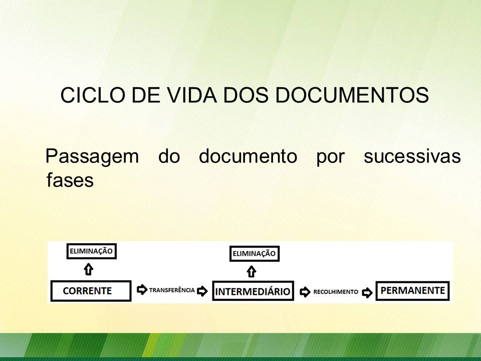 CICLO DE VIDA DOS DOCUMENTOS