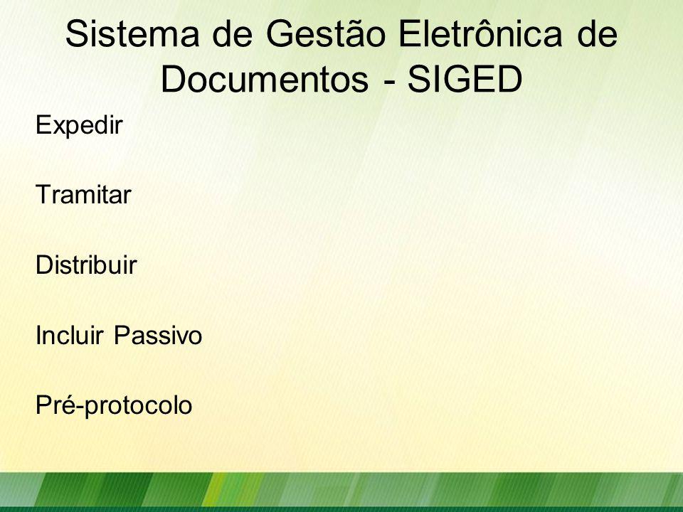 Sistema de Gestão Eletrônica de Documentos - SIGED