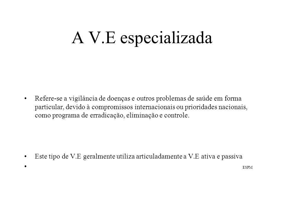 A V.E especializada
