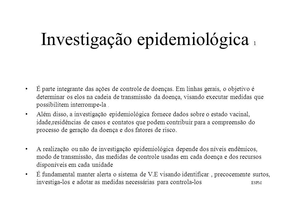 Investigação epidemiológica 1