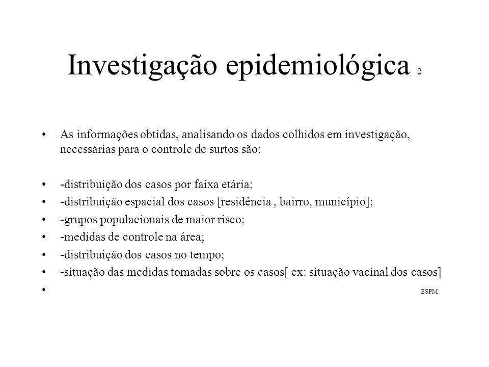 Investigação epidemiológica 2