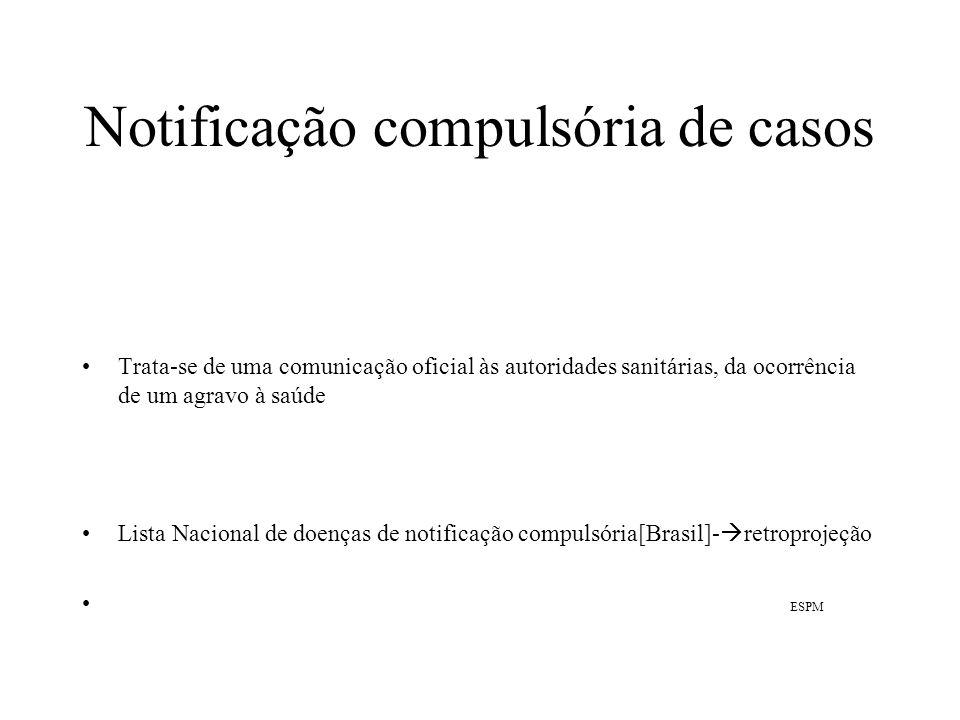 Notificação compulsória de casos