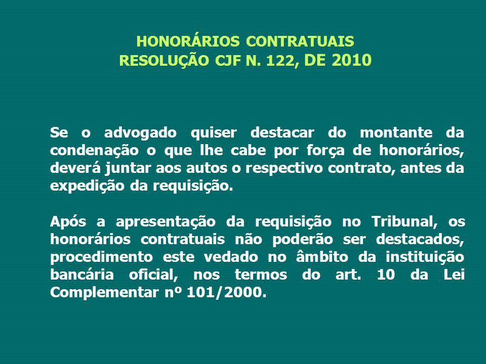 HONORÁRIOS CONTRATUAIS