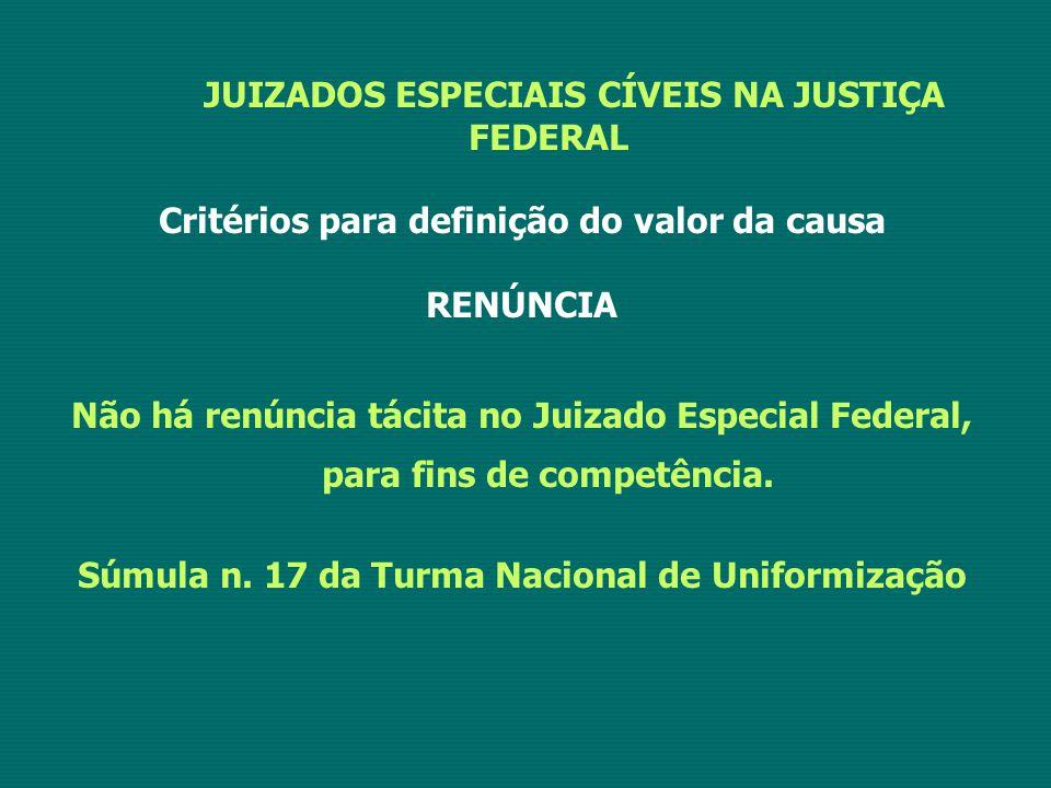 JUIZADOS ESPECIAIS CÍVEIS NA JUSTIÇA FEDERAL