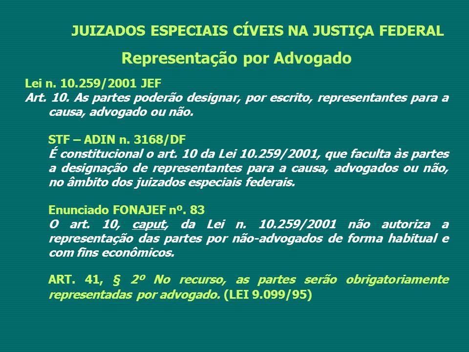 Representação por Advogado