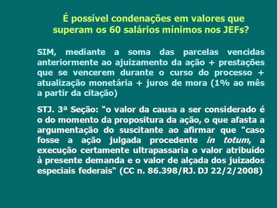 É possível condenações em valores que superam os 60 salários mínimos nos JEFs