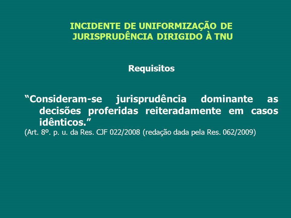 INCIDENTE DE UNIFORMIZAÇÃO DE JURISPRUDÊNCIA DIRIGIDO À TNU