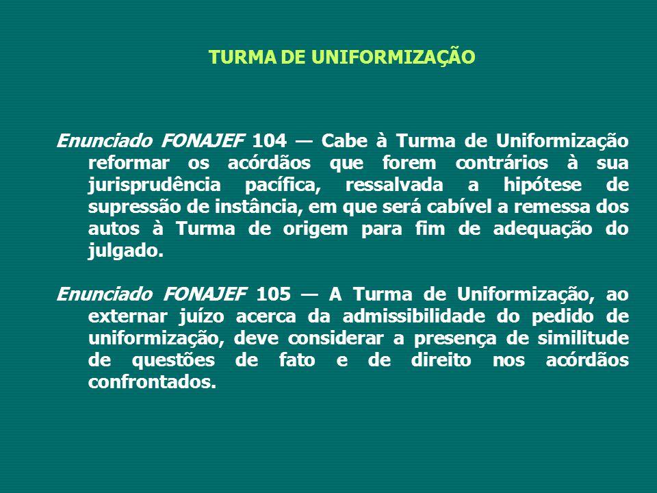 TURMA DE UNIFORMIZAÇÃO