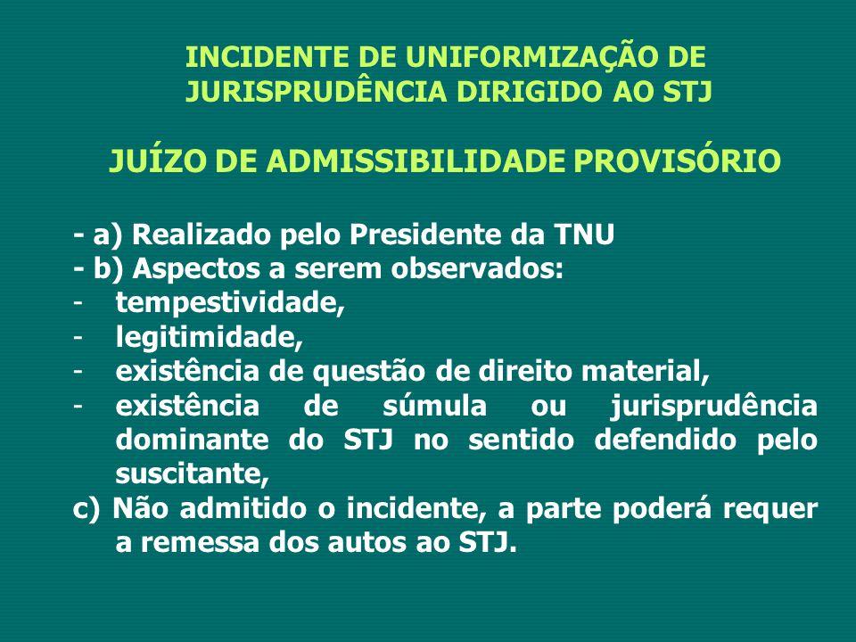 JUÍZO DE ADMISSIBILIDADE PROVISÓRIO