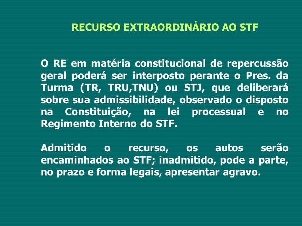 RECURSO EXTRAORDINÁRIO AO STF