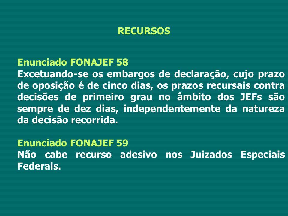 RECURSOS Enunciado FONAJEF 58.
