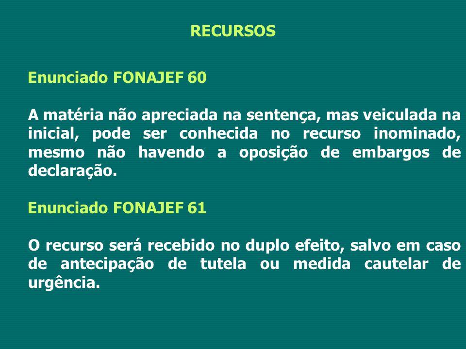 RECURSOS Enunciado FONAJEF 60.