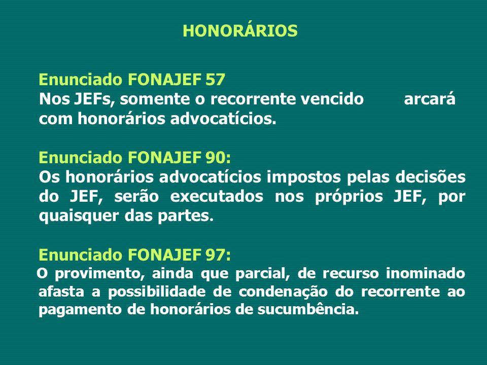 HONORÁRIOS Enunciado FONAJEF 57