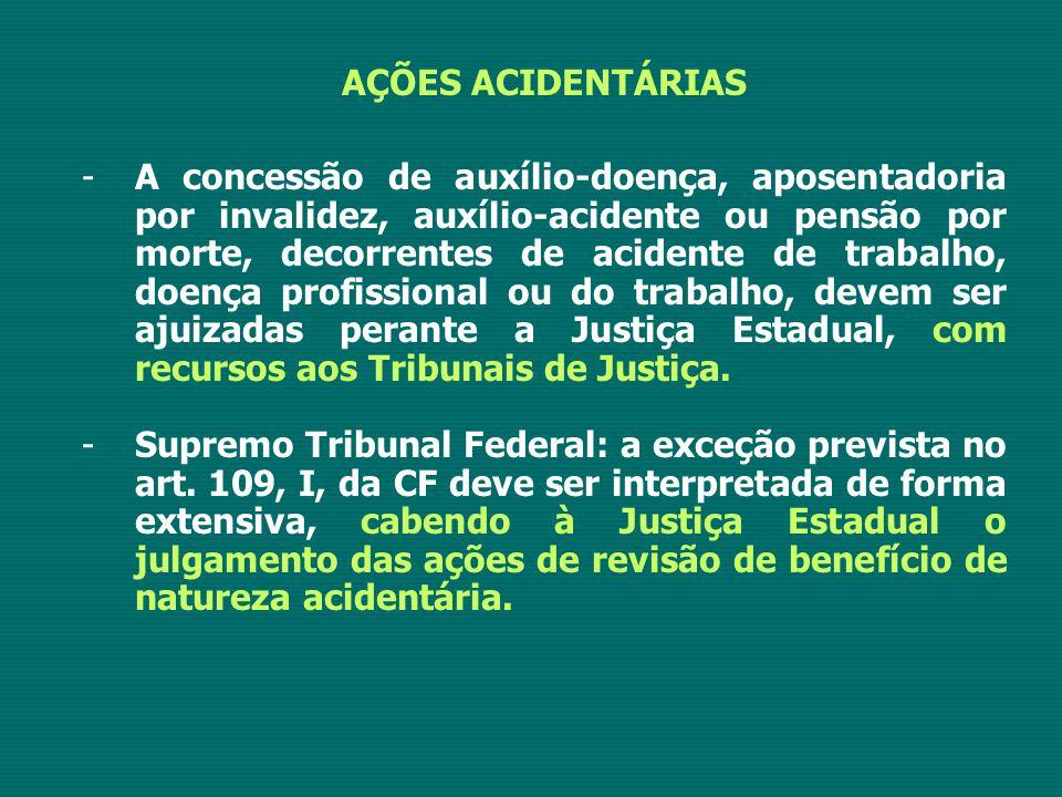 AÇÕES ACIDENTÁRIAS