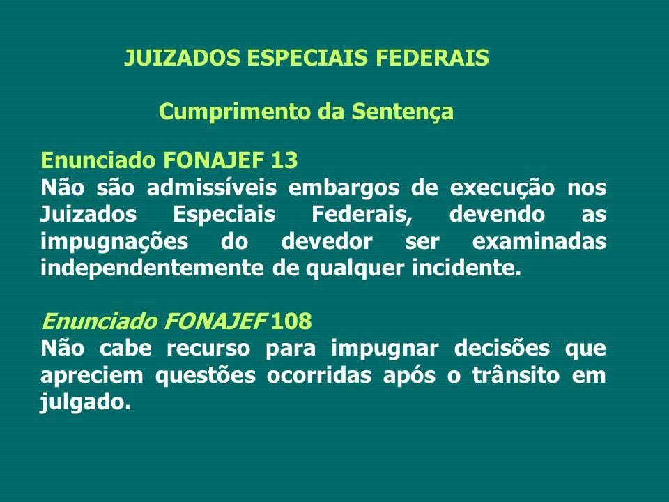 JUIZADOS ESPECIAIS FEDERAIS Cumprimento da Sentença