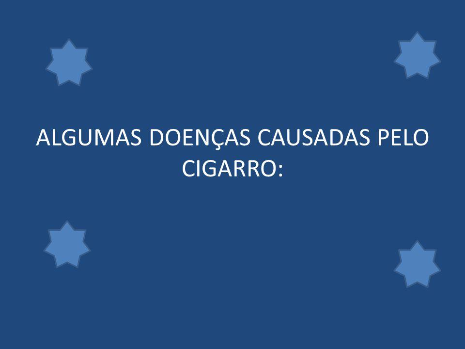 ALGUMAS DOENÇAS CAUSADAS PELO CIGARRO: