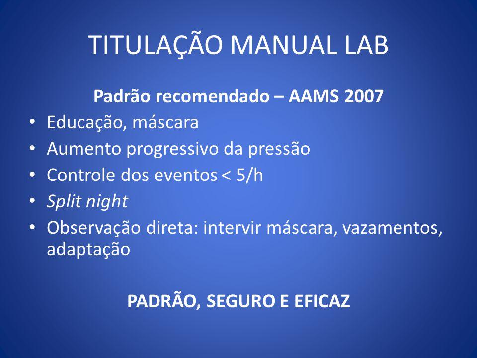 Padrão recomendado – AAMS 2007