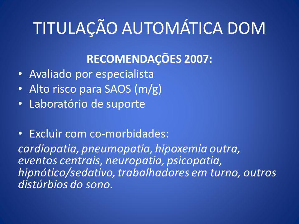 TITULAÇÃO AUTOMÁTICA DOM