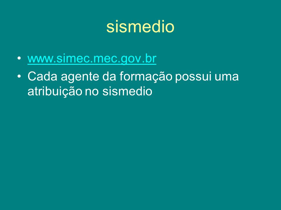 sismedio www.simec.mec.gov.br