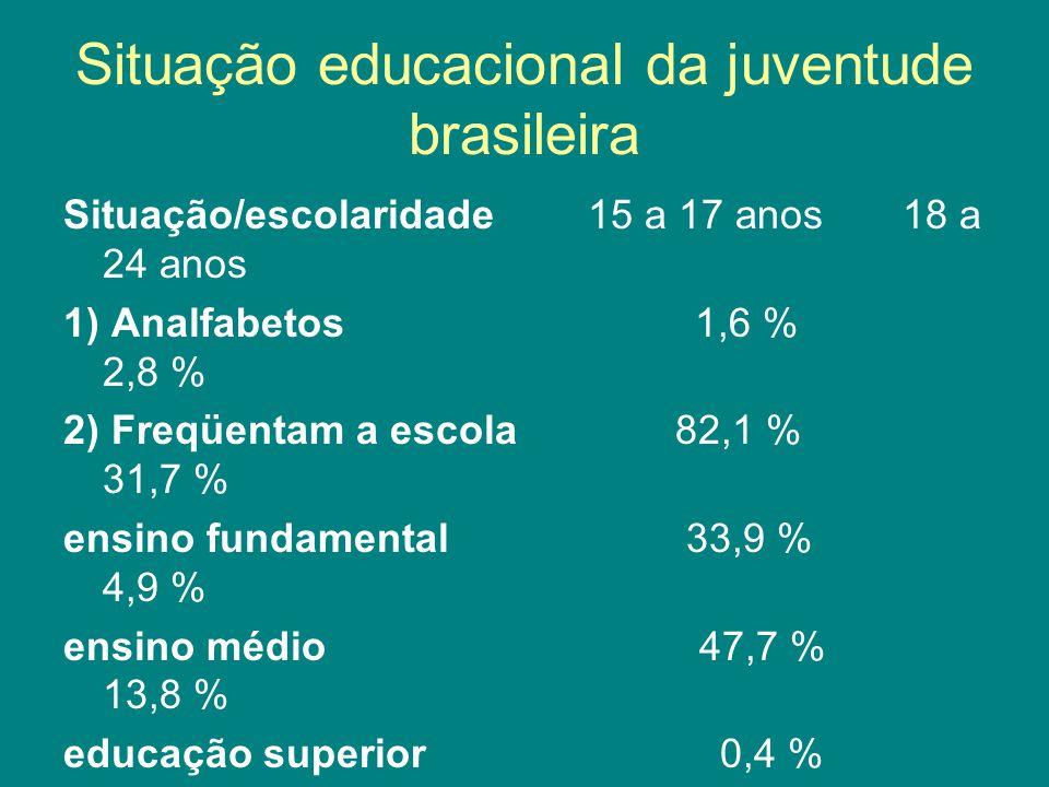 Situação educacional da juventude brasileira