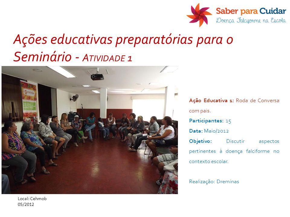 Ações educativas preparatórias para o Seminário - Atividade 1