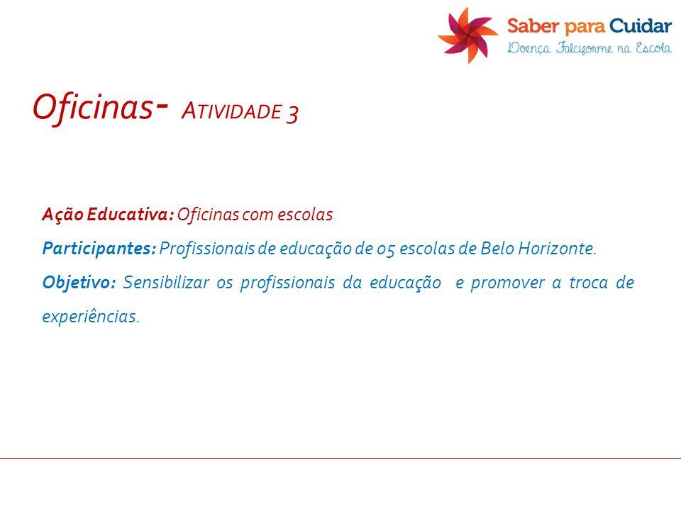 Oficinas- Atividade 3 Ação Educativa: Oficinas com escolas